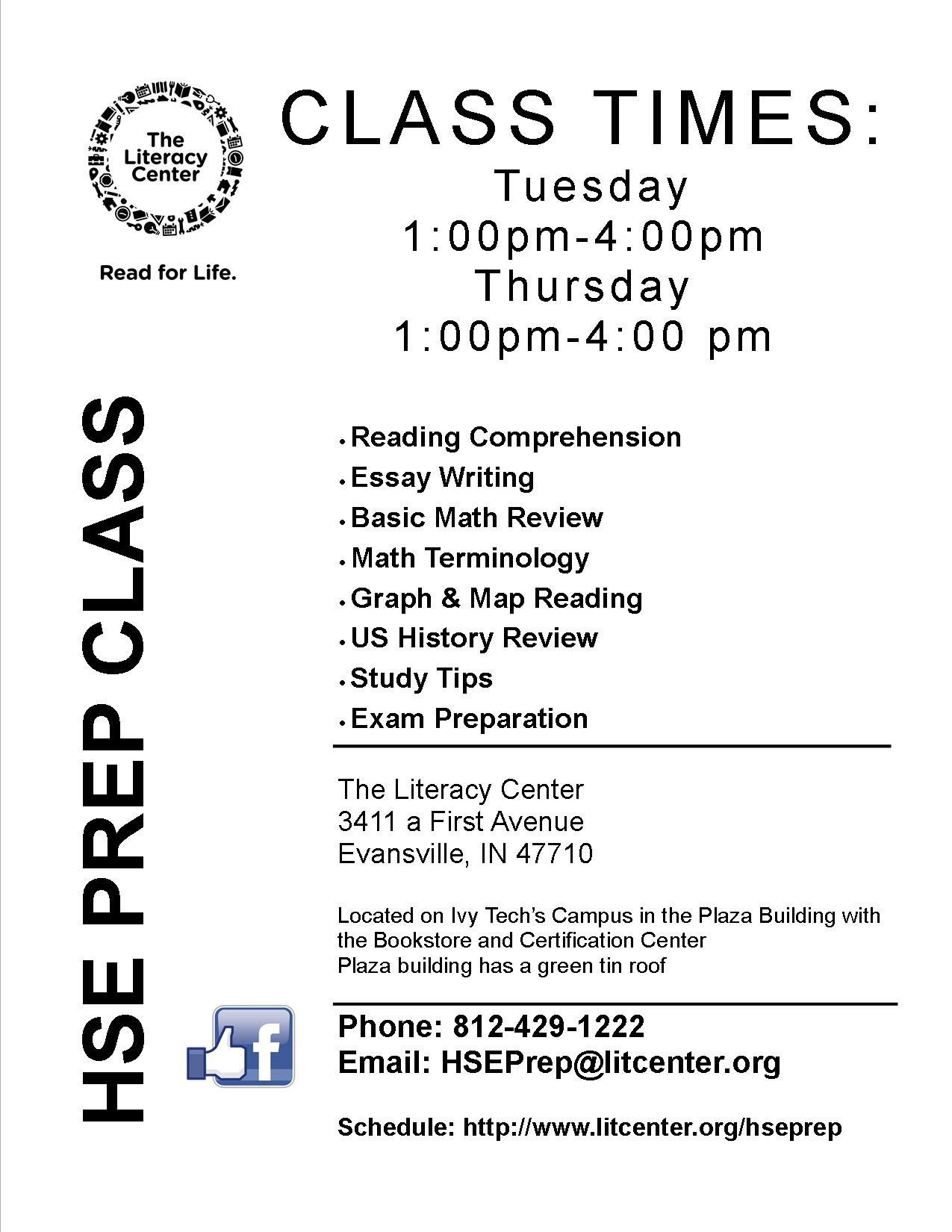 High school equivalency hse prep class the literacy center xflitez Image collections